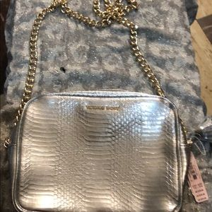 NWT Victoria's Secret silver chained tasseled bag